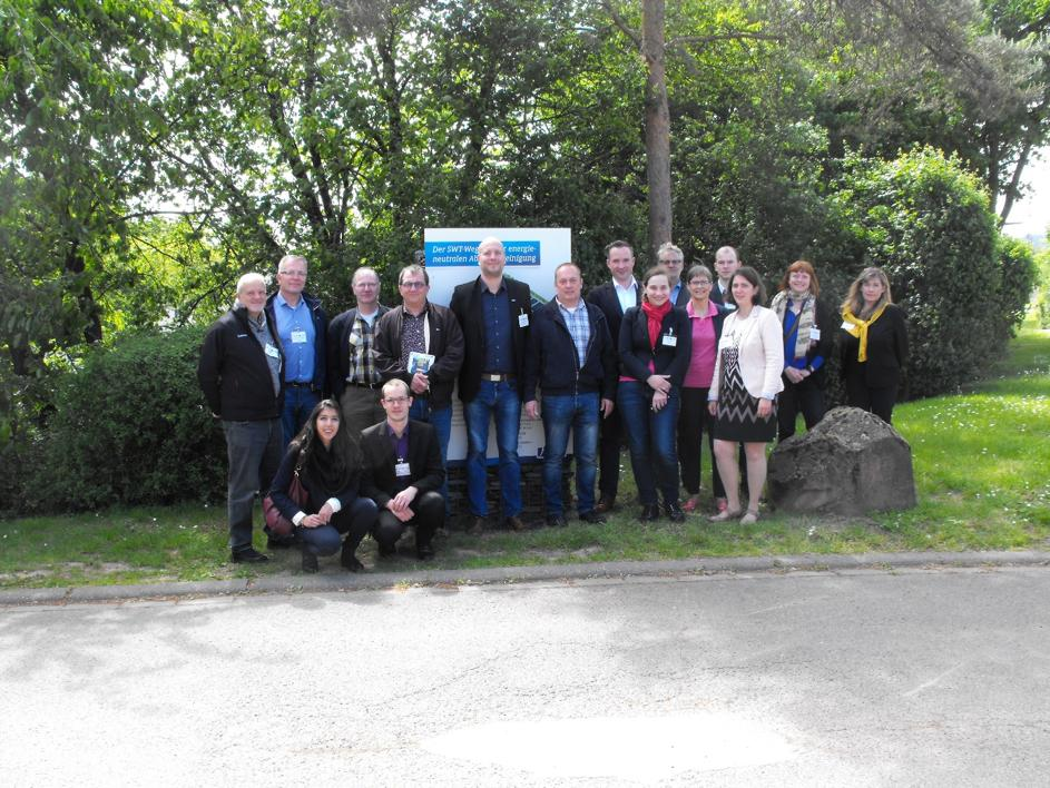 The participants of the first Company Mission between Hydreos and Ecoliance e.V. are looking forward to the exchange.